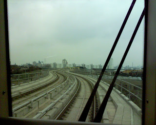 View out the window of DLR - Photo from Furlow Roth's Flickr stream