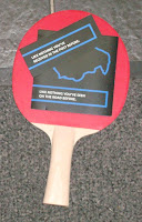 Table tennis bat from Mini Clubman