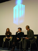 Karen Gillan (Amy Pond) and Matt Smith (the 11th Doctor) being interviewed by Joe Lindsay in the QFT after the screening of the first episode