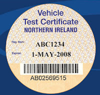 sample MOT certificate