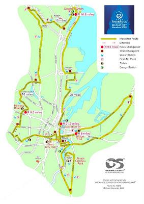 Belfat Marathon 2008 route