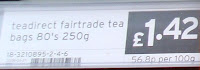 80 teadirect tea bags are £1.42