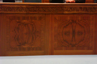 burr walnut in the Assembly Chamber up at Stormont
