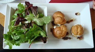 Profiteroles, with cheese and lettuce