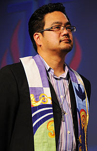 The Rev. Bruce Reyes-Chow was elected moderator of the 218th General Assembly. Photo by Joseph Williams