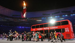 Bus 2012 at the closing ceremony of the Beijing Olympics 2008