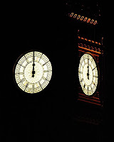 Image of clock on Palace of Westminster tower striking midnight - Graham Binns/Flickr