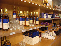 Bottles of whisky on sale in the Scottish Parliament shop