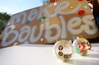Baubles and sign - Alyson McLoughlin-Harte