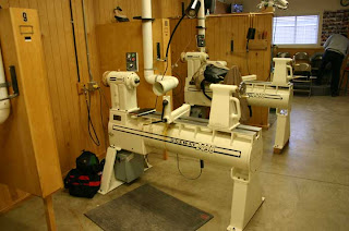 oneway lathe. prior to the class starting, we met paul chilton who was going be assistant dale during course. he introduced us his wife joining oneway lathe