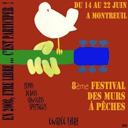 8è festival des murs à Pêches -  du 14 au 22 juin 2008 - Montreuil sous bois