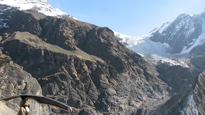 India travel destinations map: Goal Pindari Glacier, Kafni