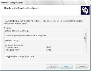 apply network settings