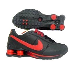 online store 7dbf7 bc467 Tenis Nike Shox R4 Preto E Vermelho
