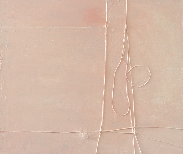 Pink Skies, 2007. oil & mixed media on hardboard. 42 x 51 cm
