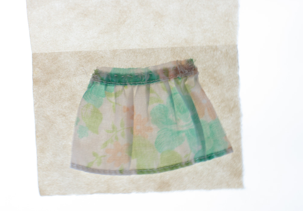 Underskirt [2009], Little Undies series, ongoing. fabric & thread.