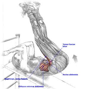 Incline Leg Raises