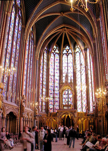 La Sainte Chapelle Holy Chapel Crowning Jewel Le De Cit In Paris France