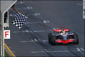 Lewis Hamilton Wins The 2008 Australian Grand Prix