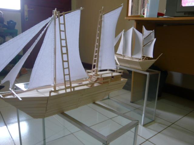 Kerajinan Kapal Pinisi: Kapal Pinisi dari stik es krim