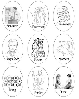 Lds general conference easter activities a little tipsy for Lds easter coloring pages