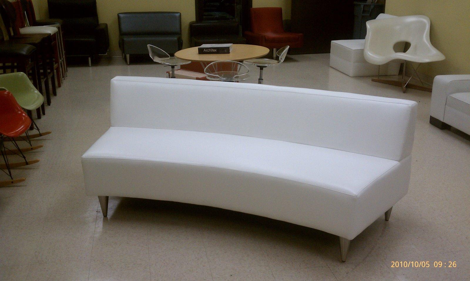 half circle sofas heavy duty sofa fabric semi curved 83 quot w calmoda furniture mfg
