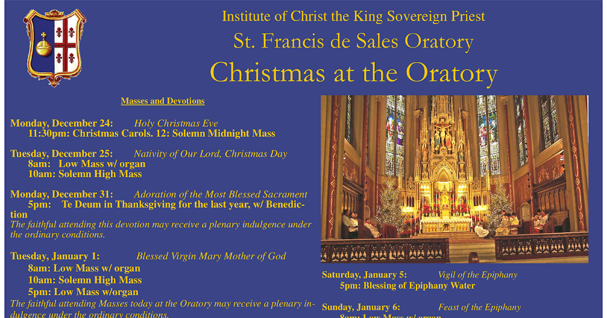 Rome of the West: Christmas Season at the Oratory
