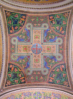 Cathedral Basilica of Saint Louis, in Saint Louis, Missouri - west ambulatory ceiling