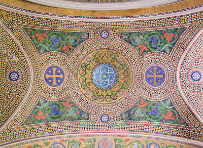 Cathedral Basilica of Saint Louis, in Saint Louis, Missouri - Our Lady's Chapel, ceiling mosaics