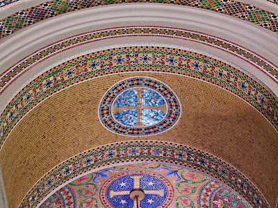 Cathedral Basilica of Saint Louis, in Saint Louis, Missouri - Our Lady's Chapel, arch mosaics detail