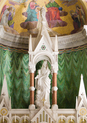 Cathedral Basilica of Saint Louis, in Saint Louis, Missouri - Our Lady's Chapel, statue of Mary