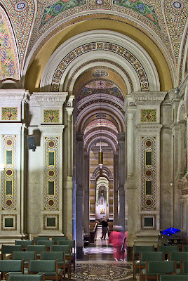 Cathedral Basilica of Saint Louis, in Saint Louis, Missouri - Our Lady's Chapel, view to back of chapel