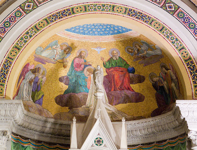Cathedral Basilica of Saint Louis, in Saint Louis, Missouri - Our Lady's Chapel, mosaic of the Trinity above the altar