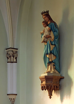 Immaculate Conception Catholic Church, in Columbia, Illinois, USA -  Blessed Virgin Mary with the Christ Child