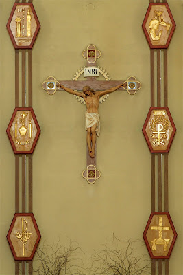 Immaculate Conception Catholic Church, in Columbia, Illinois, USA - crucifix