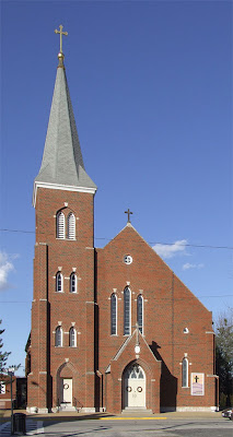 Immaculate Conception Catholic Church, in Columbia, Illinois, USA - exterior