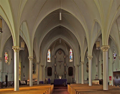 Immaculate Conception Catholic Church, in Columbia, Illinois, USA - nave