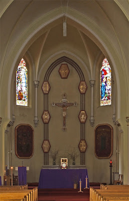 Immaculate Conception Catholic Church, in Columbia, Illinois, USA - sanctuary