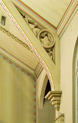 Saint Margaret of Scotland Church, in Saint Louis, Missouri, USA - ceiling supporting arch