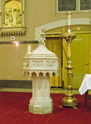 Saint Margaret of Scotland Church, in Saint Louis, Missouri, USA - Baptismal font