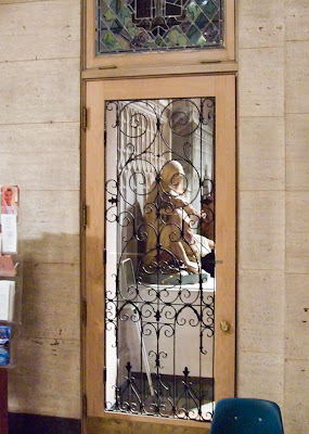 Saint Margaret of Scotland Church, in Saint Louis, Missouri, USA - door in narthex