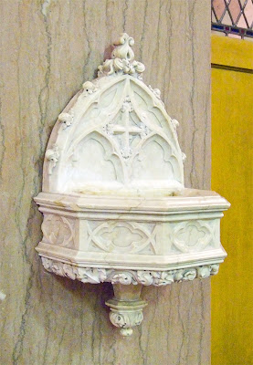Saint Margaret of Scotland Church, in Saint Louis, Missouri, USA - holy water font