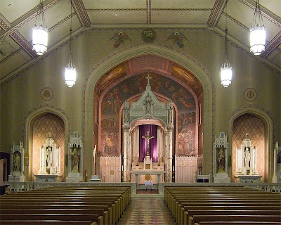 Saint Margaret of Scotland Church, in Saint Louis, Missouri, USA - nave