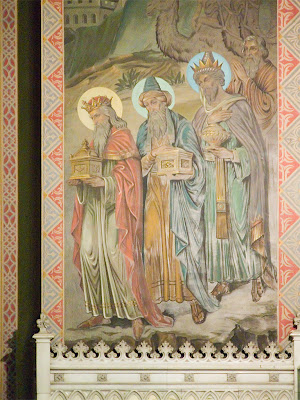 Saint Margaret of Scotland Church, in Saint Louis, Missouri, USA - Painting of the three Magi