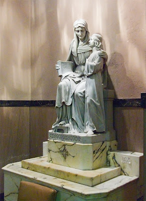 Saint Margaret of Scotland Church, in Saint Louis, Missouri, USA - statue of Saint Anne