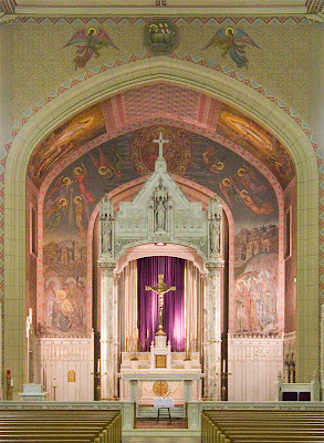 Saint Margaret of Scotland Church, in Saint Louis, Missouri, USA - sanctuary