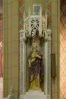 Saint Margaret of Scotland Church, in Saint Louis, Missouri, USA - statue of Saint Margaret of Scotland
