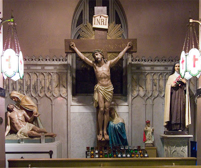 Saint Margaret of Scotland Church, in Saint Louis, Missouri, USA - devotional statues