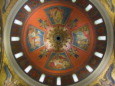 Cathedral Basilica of Saint Louis, in Saint Louis, Missouri - interior of main dome