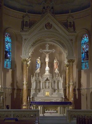 Saint Anthony of Padua Roman Catholic Church, in Saint Louis, Missouri, USA - altar and baldachino